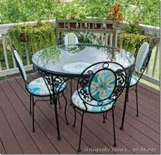 Antique Wrought Iron Outdoor Furniture by Iron Patio Furniture Sets Foter