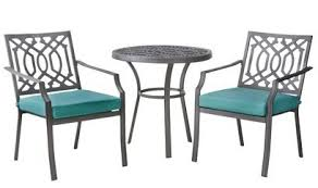 small front porch transformed with a patio bistro set from target