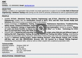 Resume Format For Freshers Mechanical Engineers Free Download Best Solutions Of Electrical Engineer Fresher Resume Sample With