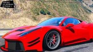 ferrari 458 widebody prior design ferrari 458 widebody new enb top speed test gta mod