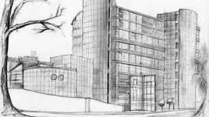 pencil drawings buildings architectural sketch of modern bank