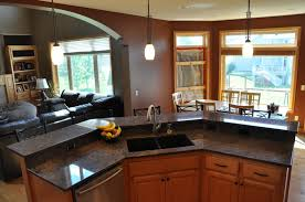 two tier kitchen island kitchen astonishing black granite and marble two tiered kitchen