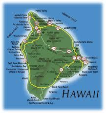 map of hawaii cities hawaii city map of the hawaiian island of hawaii the big island