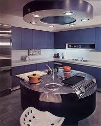 hotte d aspiration cuisine cuisine avec ilôt rond créée par antoine philippon et jacqueline