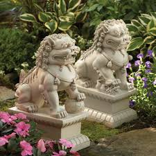 pictures of foo dogs foo dog garden statues white dharmacrafts