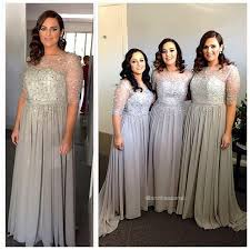 silver plus size bridesmaid dresses silver bridesmaid dresses chiffon plus size of honor gowns