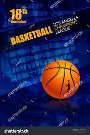 design basketball template poster tournament abstract stock vector