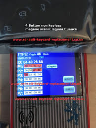 home renault used key card programming for 3 and 4 buttons and