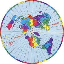 European Time Zone Map by The Ultimate Flat Earth Map Collection Aplanetruth Info