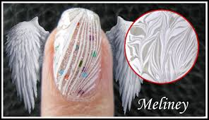 water marble nail art white feather angel wing design easy how