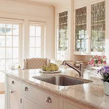 Kitchen Cabinet Glass Doors Kitchen White Stain Solid Wood Kitchen Cabinet With Glass Door