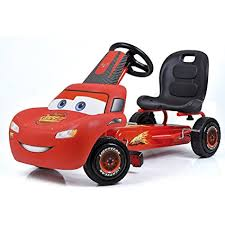 lighting mcqueen pedal car amazon com hauck disney lightning mcqueen pedal go kart toys games