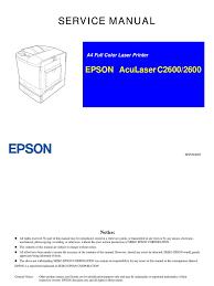 aculaser c2600 service manual paper printer computing