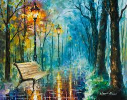 night of inspiration palette knife oil painting on canvas by