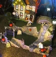 halloween village creepy creek waterfall display base platform
