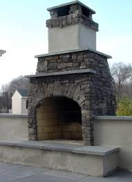 Firerock Masonry Fireplace Kits by Outdoor Fireplace Made Out Of A Fire Rock Kit Mortared Cultured