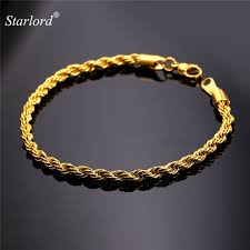metal rope bracelet images Starlord gold color black gun color stainless steel rope bracelets jpg