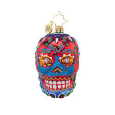 radko 1017714 la calavera gem day of the dead skull ornament