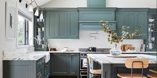 green kitchen cabinets with white countertops kitchen cabinet paint colors for 2020 stylish kitchen