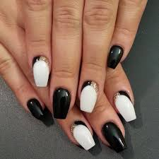 14 black and white acrylic nail designs 20 cool black and white