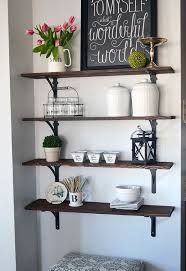 The Kitchen Open Table by Diy Stained Open Shelving For The Kitchen Hometalk