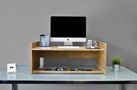 Laptop Stands For Desks Ergonomic Standing Desk With Unfinished Wooden Laptop Stand As