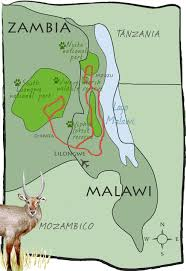 Malawi Map Malawi Zambia Tour In The Wild North Rift Valley Highlands