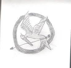 mockingjay symbol drawing by auraknight95 on deviantart