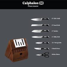 calphalon precision self sharpening 15 pc cutlery set