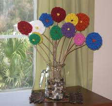Homemade Flowers Counting Coconuts Fingerknitted Flowers