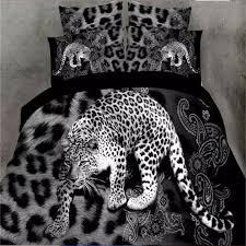 Duvet Comforter Set Leopard Print Queen Size 3d Bedding Comforter Set 4 Piece Duvet