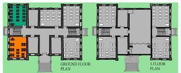 ground floor plan and ground floor plan of the historic block of ulugazi