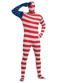 2nd skin halloween costumes usa flag skin suit