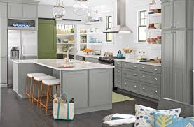 i love how this all works together gray cabinets white wood