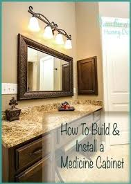how to hang a medicine cabinet how to hang a medicine cabinet best medicine cabinet redo ideas on