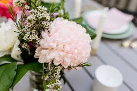 a modern romantic spring tablescape happy grey lucky