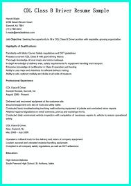 Driver Resume Samples by Cdl Resume Haadyaooverbayresort Com