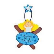 craft stick manger craft kit orientaltrading com christmas