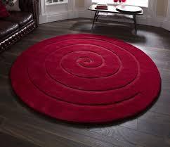 Modern Circular Rugs Spiral Modern Circular New Zealand Wool 140cm 4ft 6 Ft