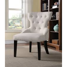 Tufted Accent Chair Coaster Company White Tufted Accent Chair Free Shipping Today