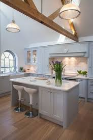 wren kitchens linda barker shaker kitchen in oak and cornish