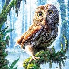 Owl Home Decorations 35 35cm Diy 5d Diamond Painting Cross Stitch Animal Owl Home Decor