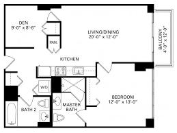 chicago 1 bedroom apartments 1 bedroom plus den floor plan of property trio in chicago trio