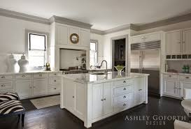 gray kitchen cabinets with white crown molding gray crown molding transitional kitchen goforth