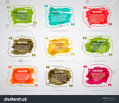watercolor ink splash quote blank templates stock vector 338560154