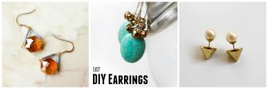 easy earrings 15 easy diy earrings craft paper scissors