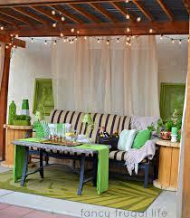 Outdoor Cabana Curtains Cabana Patio Makeover With Diy Drop Cloth Curtains Don T