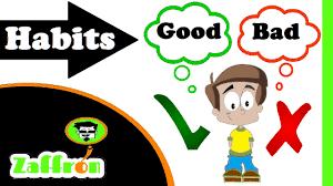 good habits and bad habits for kids العادات الجيدة للأطفال
