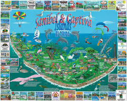 Sanibel Island Map Amazon Com White Mountain Puzzles Sanibel U0026 Captiva 1000 Piece