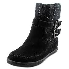 guess boots womens g by guess womens riesling toe ankle cold weather boots ebay